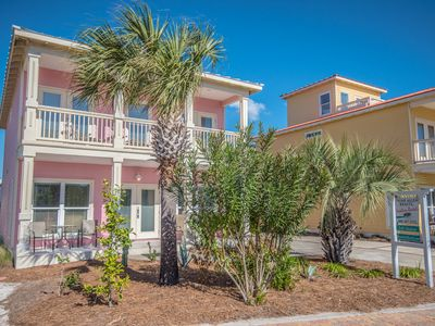 Photo for Gulf View, Pool, Steps to Beach! Cute Cottage! Near shops and Restaurants!