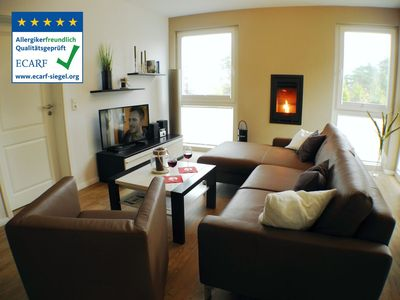 "Photo for ""Meeresrauschen"": Comfortable apartment with whirlpool, sauna, WLAN, fireplace"