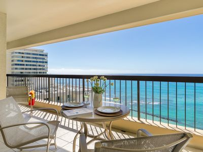 Photo for SPECTACULAR OCEAN VIEW!  A/C, WiFi, POOL, FREE Parking, Sleeps 6!