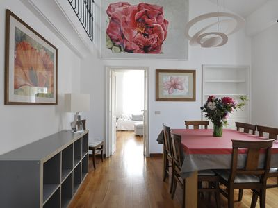 Photo for Beautiful apartment on 2 levels with terrace in the centre of Milan