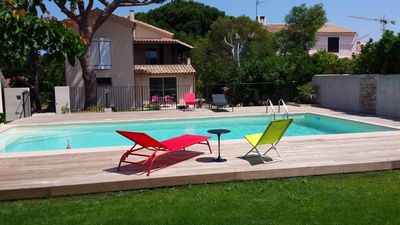 Photo for Six Fours beaches, T3 65m², charming, pool, sea walk