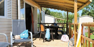 Photo for Camping Les Blancs Chênes **** - Mobile Home 3 Rooms 6 People Privilege