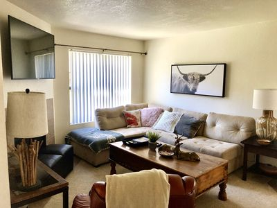 Photo for Relaxing 2 Bedroom condo-ground floor-heated pool desirable Scottsdale location