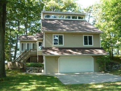 Photo for Gorgeous Updated Lake Michigan Lakefront Home On Private Beach!