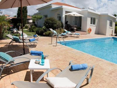 Photo for Bungalow Cassia - Modern Bungalow with Large pool, Free WIFI and UK Channels