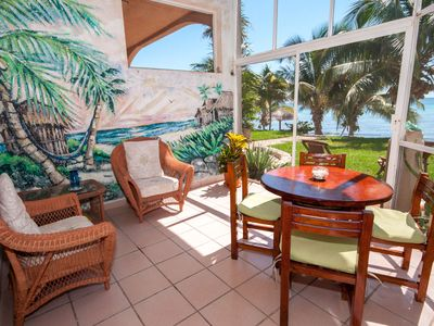 Photo for Beachfront 2 BR with modern amenities and Mexican charm