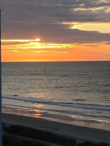 Watch spectacular sunrise from our balcony!