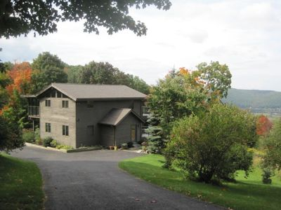 Photo for Sweet Contemporary: Amazing Views, Pond, Hiking Trails, 1 mile to Catamount!!