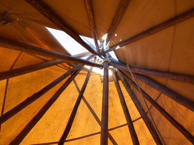 Photo for Authentic Sioux style Tipi loge on private lake