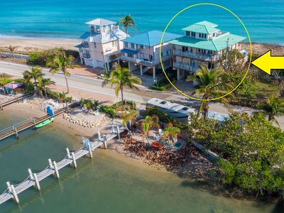 Photo for Carpe Diem! Stunning FL Beach House ON Beach +Dock!  << $100 per night / Bedroom