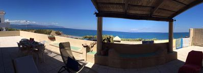 Photo for Amazing terrace on the beach between Milazzo and Tindari