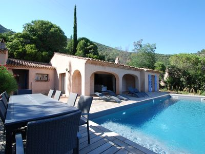 Photo for Provencal villa 11 pax near Saint-Tropez with swimming pool and superb sea view
