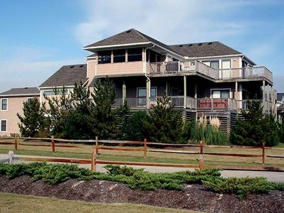 Photo for #421: Partial OCEANVIEW in Corolla w/PRVTPool, HotTub & RecRmw/PoolTable
