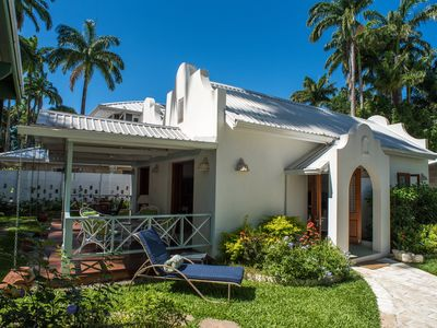 Photo for Beautiful Large Villa Des Anges Cottage steps to Beach AC WiFI private gardens