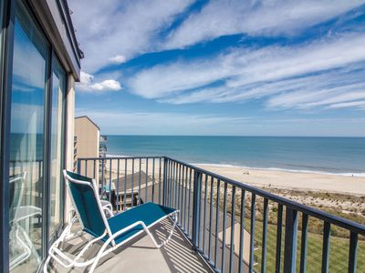 Photo for B909: 1BR Oceanfront Penthouse @ Sea Colony | Private beach, pools & tennis!