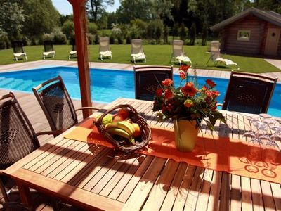 Photo for wonderful Villa with heated pool 24° - Sauna - hot Tub 39° - Berlin City 30 min