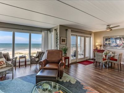 Completely Renovated, oceanfront, absolutely beautiful condo just steps to beach!