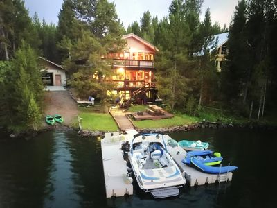 Photo for Waterfront Cabin With Beautiful View Of Mt. Sawtelle & close to Yellowstone Park