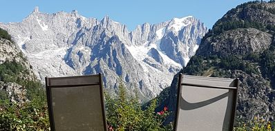 Photo for Courmayeur house with a view, two-room apartment with a small garden