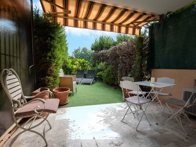 Photo for Spacious 3 pax apartment with garden in Cannes
