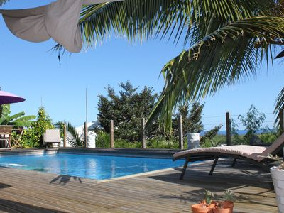 Photo for Villa with pool, sea and mountain views