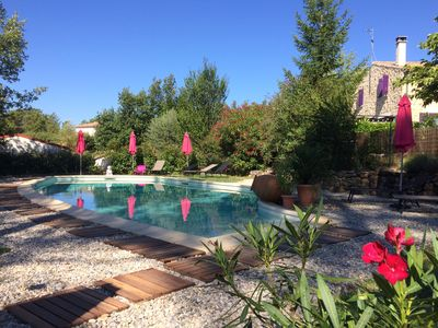 Photo for cottage with pool in a quiet and in the heart of nature ardechoise