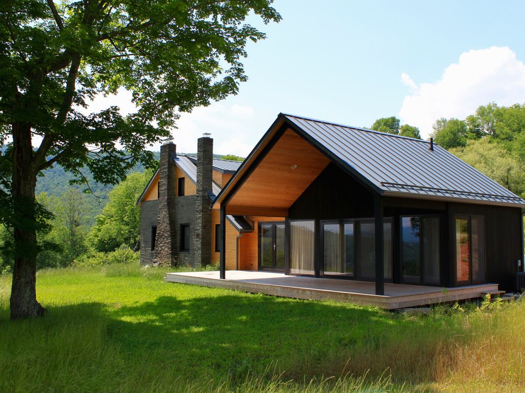 high end contemporary farmhouse best views of the catskills from