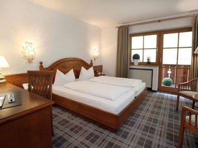 Photo for Standard Double Room with Balcony - Hotel Blaue Gams