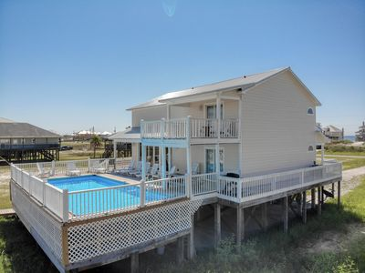 Photo for Bayfront Home with Private Pool and own Sandy Beach