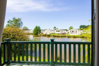 6 berth accommodation with lake view at Southview Holiday Park