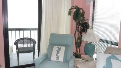 Front and side views of ocean from living room.