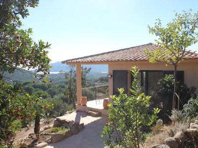 Photo for Detached house, 2 bedrooms, open sea and maquis view