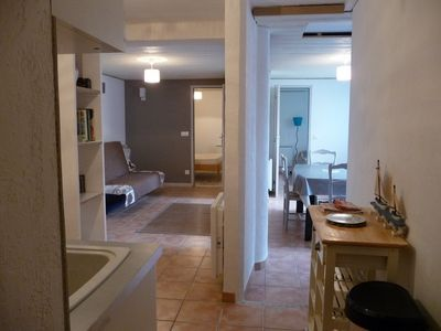 Photo for At 80m from the beach, apartment T2 / 3, sleeps 5 Saint Cyr sur mer, parking.