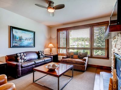 Photo for Spacious ski in/ski out condo with gas fireplace & shared hot tub!