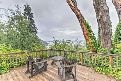 Take in views of Puget Sound from the deck of this 5-bedroom, 2.5-bath home.