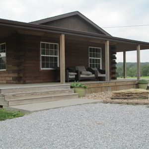 Photo for Secluded, Log Rental Cabin, Private Hot Tub,on Southern Illinois Wine Trail