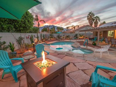 Photo for Modern Desert Dream w/ Private Pool & Spa, Firepit, Mountain Views