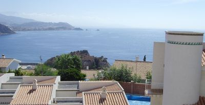 Photo for Semidetached house with private pool and sea views