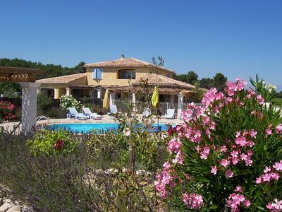 Photo for Luxury villa, private heated pool, full air conditioning