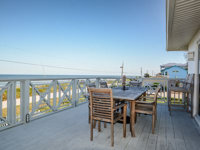 Photo for Oceanfront home with large deck, perfect for families! - 6492 S. Atlantic