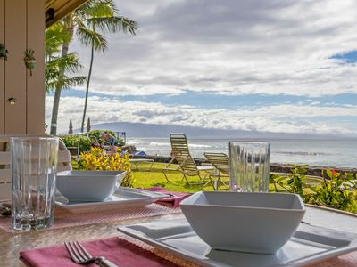 Photo for Spring Special Oceanfront Unit Beautiful Sunsets From Your Private Lanai!!