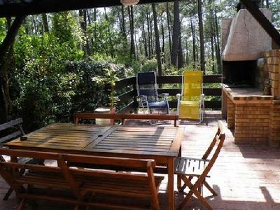 Photo for House with beautiful terrace facing the forest, quiet, near ocean and golf courses