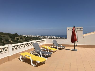 Photo for LUXURY APARTMENT SEA VIEW, ROOF TERRACE, SWIMMING POOL- BEACH-ALGAVE-PORTUGAL-ALBUFEIRA