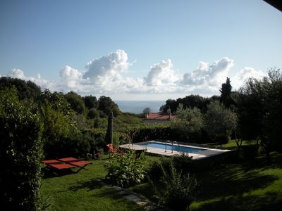 Photo for Villa with private pool, garden and sea view