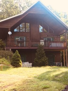 Photo for Large Private Cabin w/Hot Tub, 2 Fireplaces, Pool Table, WIFI, Mountain Views