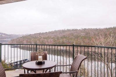 View of Table Rock Lake from your private covered deck.