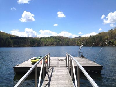 Photo for Lakefront Cabin with private Dock - Kayaks - WiFi - Direct TV