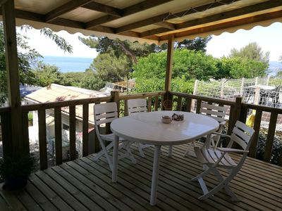 Photo for Family mobile home with sea view terrace