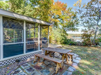 Photo for NEW LISTING: Waterfront Cottage on Big Pea Porridge Pond w Private Beach! AC!