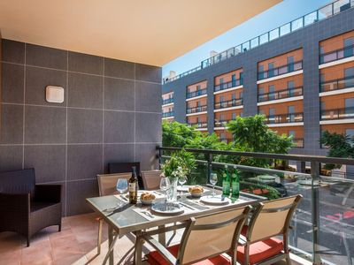 Photo for Olhao Apartment, Sleeps 4 with Air Con and WiFi
